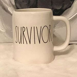 Rae Dunn SURVIVOR hard to find mug cup NEW